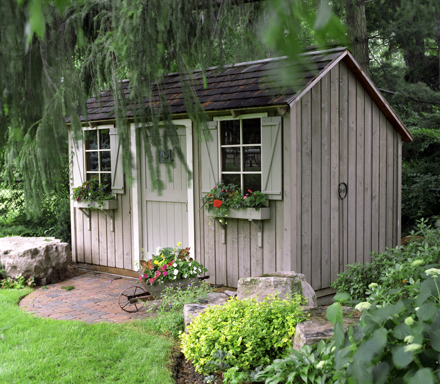 Small garden shed building plans 2014