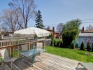 99B Evans Ave. For Sale Mimico Etobicoke Backyard Deck